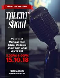 Talent Show Flyer Background 1 080 Customizable Design Templates For Talent Show Postermywall