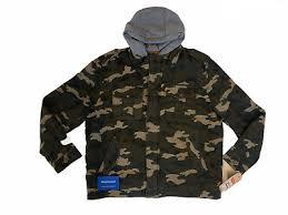 <b>Levis</b> (Camo) Cotton Military Hoodie Jacket Coat New NWT Fast ...