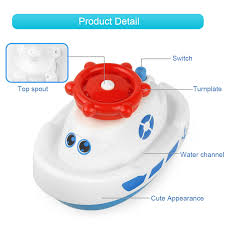 which rotating and floating on the water with spraying exciting fountains bringing endless entertainment for baby bath cute and fun boat design