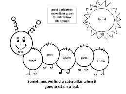 Sight Word Coloring Pages Kindergarten Worksheet Spring 4 Worksheets
