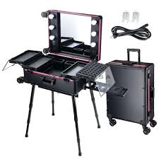 makeup train case with lights makeup train case professional