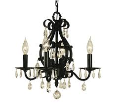 4 light matte black liebestraum mini chandelier