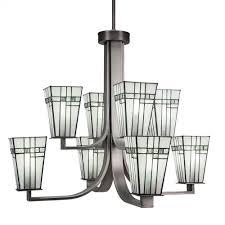 apollo graphite eight light chandelier