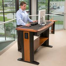 standing office table. Chic Office Furniture Standing Desk Adjustable Sitting All Day Can Be Terrible For Your Health We Table G