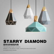 modern retro lighting. modern wood pendant lights iron minimalist retro light colorful restaurant coffee bedroom loft pyramid lamp metal lighting e