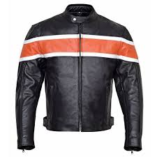 reston mens classic leather motorcycle jacket
