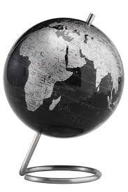 Modern Spectrum Metallic Desktop World Globe 6 Inch