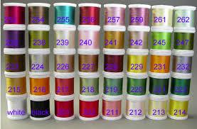 J D Wagner Rodmaker Yli Silk Color Chart