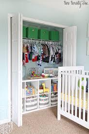 organized nursery closet love this