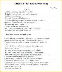 Event Planning Agenda Template Party Plan Checklist Template Unique