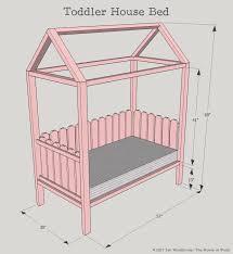 diy toddler house bed free plans