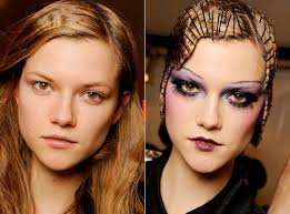 fashion photographer greg kessler takes pictures of runway models before and after makeup the moment the new york times fashion posts these together