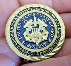 Uscg Reserves Us Coast Guard Reserves Challenge Coin Uscg Semper Paratus Security