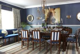 Inspiration Idea Blue Dining Room Colors Hue Trendy Dining Room Colors