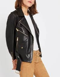 designer anine bing vintage leather jacket
