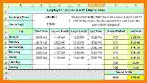 Time Card Calculator With Lunch Breaks Leyme