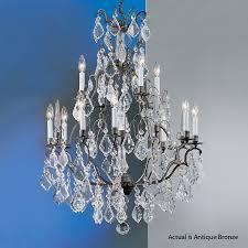 classic lighting versailles 13 light antique bronze crystal chandelier
