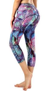 Patterned Yoga Pants Best Amazon Sugar Pocket Women Running Yoga Pants Patterned Capris