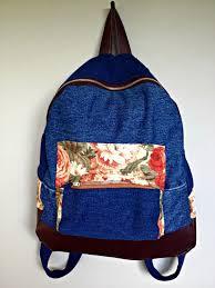 13 denim backpack