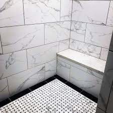 pattern marble shower floor tile ideas