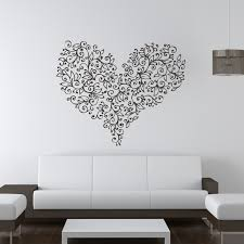 wall art ideas design love heart decal wall art shaped modern contemporary simple white fabric sofa wooden table flowers best decal wall art stickers tree  on wall art love heart with wall art ideas design love heart decal wall art shaped modern