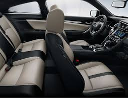 interior 2016 civic touring gray leather buckets