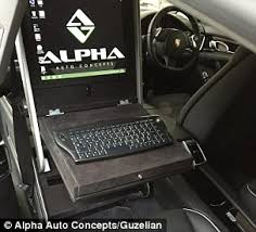 Auto Mobile Office Porsche Panamera Is Turned Into A Mobile Office With Wi Fi