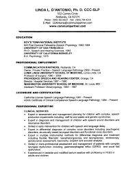 Classy Pathologist Resume Sample In Slp Resume Examples