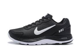 nike lunarglide 4 men s leather running shoes black white