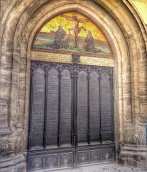 Decorating martin luther church door photos : Martin Luther's 95 theses | Sophie's World Travel Inspiration