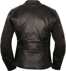 weise chicago las leather jacket black