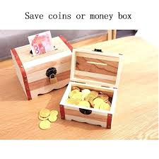 toy box with lock creative wooden piggy bank vintage money cute boxes coin small lockable toy box with lock flower wood