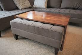 Coffee Table Ottoman Table Surprising Waterfall Wood Coffee Table Ottoman Il Full Table