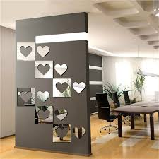mirror wall art. 3d mirror wall sticker heartshaped decal mural art diy living room home decoration