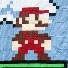 Super Mario: The Hidden Quilt Level | & Want a video game quilt? Also for sale on Etsy… Adamdwight.com