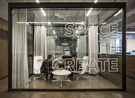 office space design. Transparent Glass Wall Divider Partition For Offices // 10 Creative Office Space Design Ideas