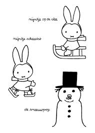 Nijntje Informatie Op Eenpuntnl Nijntje Kleurplaat Kerst Norskiinfo
