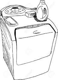 washing machine drawing color. pin machine clipart drawing #4 washing color m