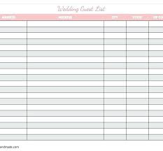 Wedding Guest List Excel Template Spreadsheet Bettylin Co