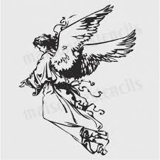 Angel Sketch Angel Sketch 12x12 Stencil