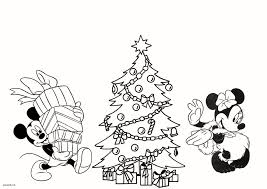 Mickey And Minnie Christmas Coloring Pages Xmas Stuff For 10481600