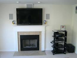 lovable how to hide cords above fireplace your home concept hiding tv wires over on stone