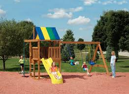 diy playset plans wood playhouse with slide swing and slide set wooden swing sets clearance