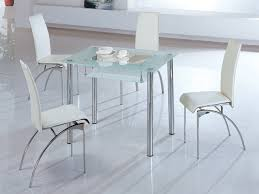 image of white kitchen table and chairs next