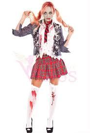 girls zombie cheerleader school girl costume view larger