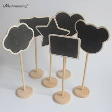 x100 mini wooden frame blackboard with stick on stand chalkboard for rustic wedding baby shower party decoration table signs