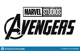 Set Of Avengers And Marvel Studios Logos Printed On Paper
