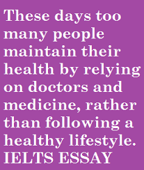 these days too many people maintain their health by relying on doctors