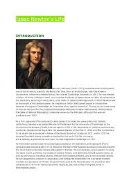 how to write an essay introduction about sir isaac newton essay essay isaac newton was a brilliant scientist who discovered many important things sir isaac newton was born on 25 1642 according to the julian