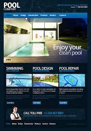 Templates For Websites Enchanting Website Templates Swimming Pool Templates Custom Website Template